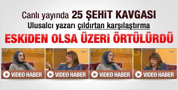 Canlı yayında 25 şehit tartışması - Video