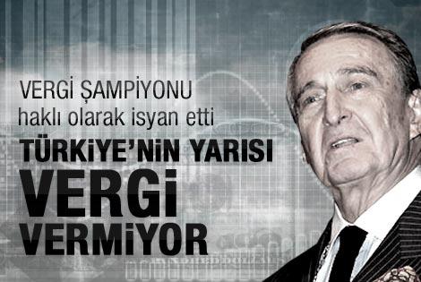 Rahmi Koç: Türkiye'nin yarısı vergi ödemiyor
