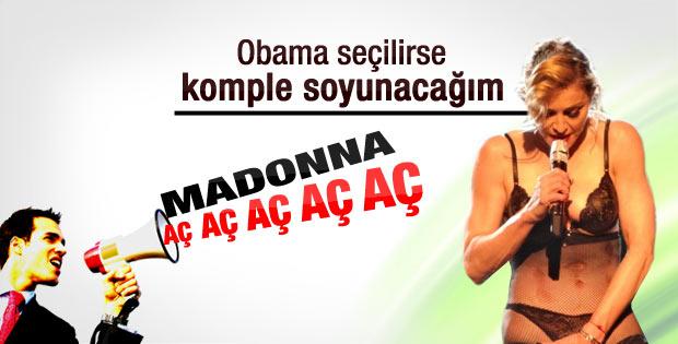 Obama kazandı Madonna soyunacak mı
