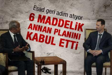 Suriye Annan planını kabul etti