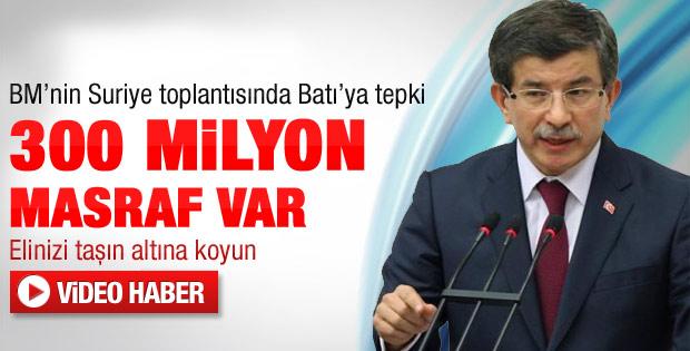Davutoğlu BM'de Suriye toplantısında konuştu
