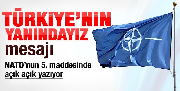 NATO'nun Türkiye'ye destek mesajının şifreleri