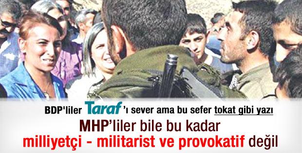 Taraf yazarı Oğur'dan BDP'ye sert kucaklaşma tepkisi