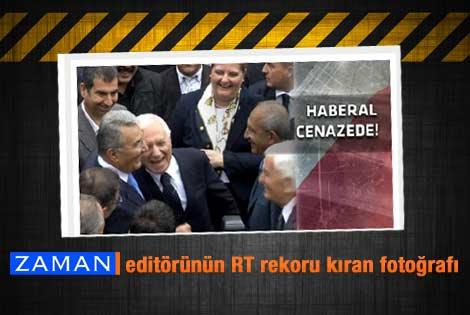 Haberal'ın cenazesinde kahkaha fotoğrafı