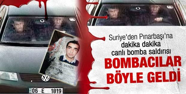 Teröristler Pınarbaşı'na böyle geldi