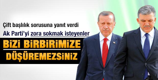 Erdoğan'dan çift başlılık açıklaması
