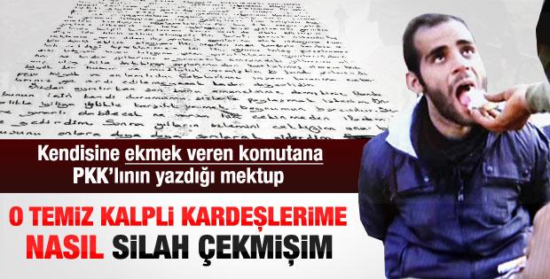 Teslim olan PKK'lıdan komutana teşekkür mektubu