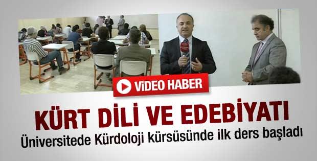 Artuklu Üniversitesi'nde ilk Kürtçe ders başladı