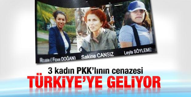 Öldürülen 3 PKK'lının cenazesi Türkiye'ye gelecek