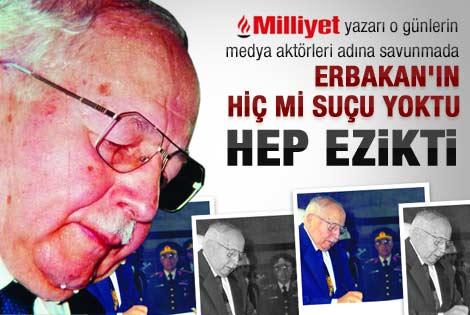 Mehmet Tezkan: Erbakan ezikti