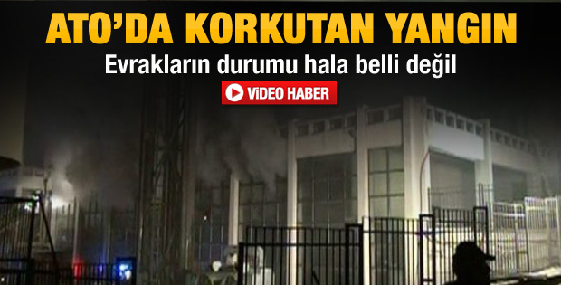 Ankara Ticaret Odası'nda yangın