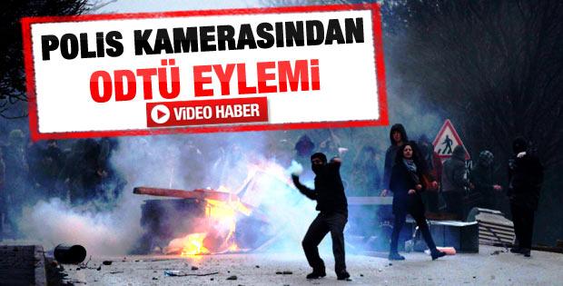 ODTÜ protestosu polis kamerasında - Video