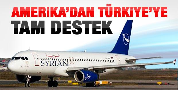 ABD'den Suriye uçağı açıklaması
