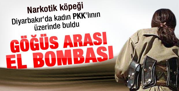 Kadın PKK'lının göğüsleri arasında bomba çıktı