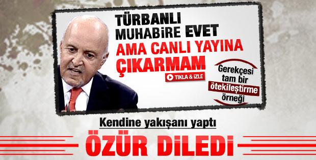 Mehmet Ali Birand başörtüsü sözleri için özür diledi