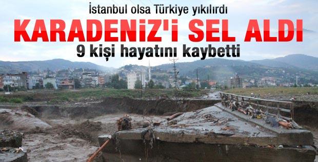 Samsun'da sel: 9 kişi can verdi