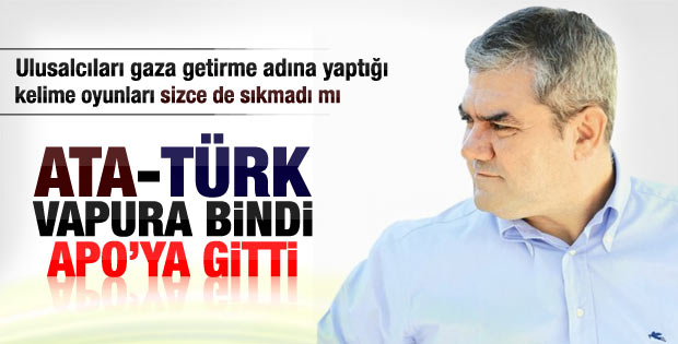 Yılmaz Özdil: Ata-Türk vapura bindi Apo'ya gitti