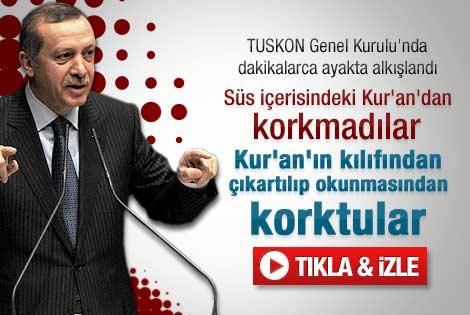 Erdoğan'ın TUSKON Genel Kurulu konuşması