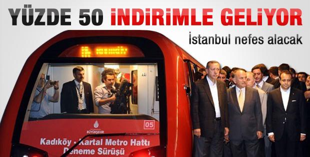 Kadıköy-Kartal metrosu yüzde 50 indirimli