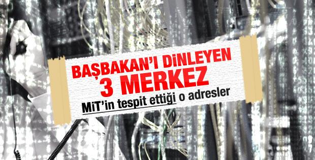 MİT Başbakan Erdoğan'ı dinleyen 3 merkezi tespit etti