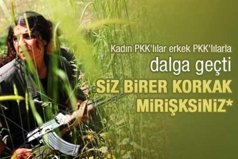 Kadın PKK'lılar erkek PKK'lılarla dalga geçti
