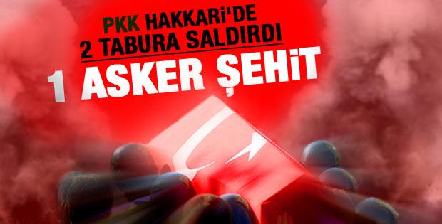 PKK yine saldırdı: Hakkari'de 1 şehit