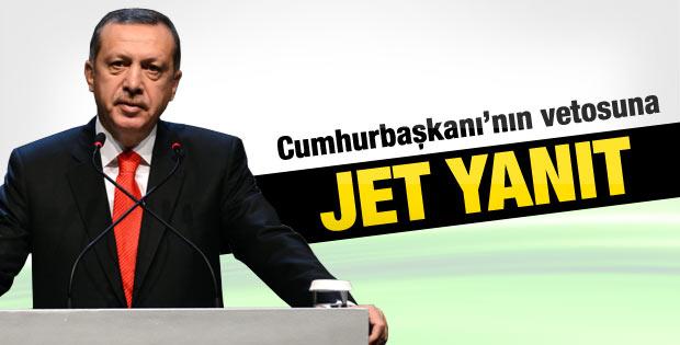 Başbakan Cumhurbaşkanı'nın vetosuna yanıt verdi