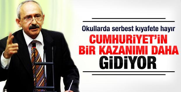 Kılıçdaroğlu: Okulda kısa kolu yasaklamak sapıklıktır