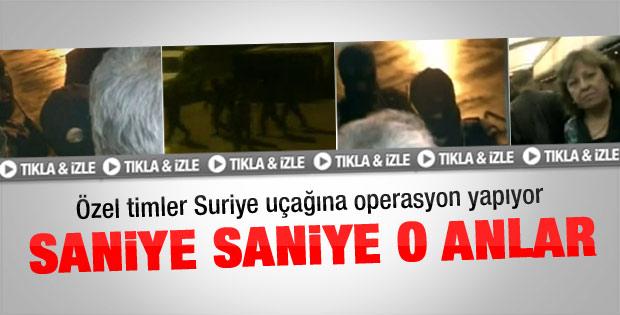 Suriye uçağına operasyon kamerada - izle