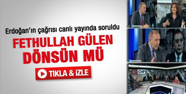Gürsel Tekin: Gülen'in dönmesinden yanayım - Video