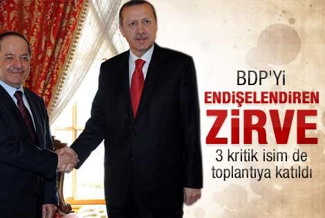Erdoğan Barzani görüşmesi başladı