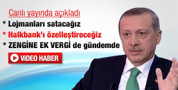 Erdoğan: Lojmanları satacağız