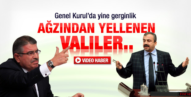 BDP'li Önder ile Bakan Şahin arasında gerginlik - Video