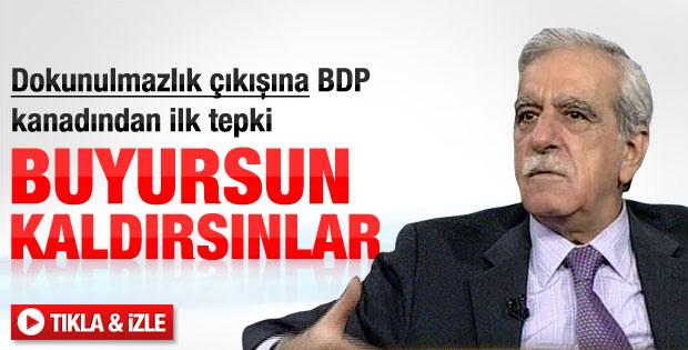 Ahmet Türk: Dokunulmazlıkları kaldırsınlar