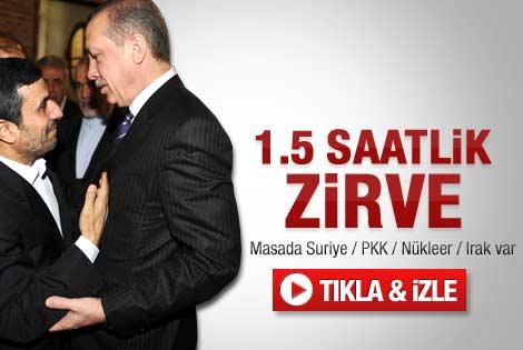 Erdoğan-Ahmedinejad görüşmesi sona erdi