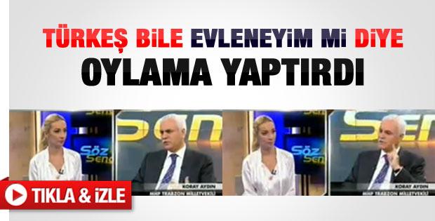 Koray Aydın: Türkeş evliliğini oylamaya açtı - Video