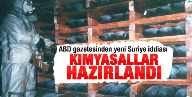 Suriye kimyasal silah kullanmaya hazırlanıyor