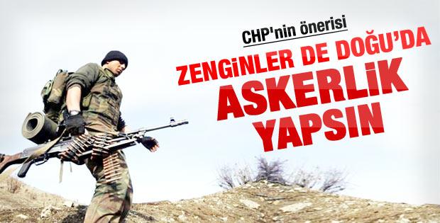 CHP'den eşit askerlik önerisi