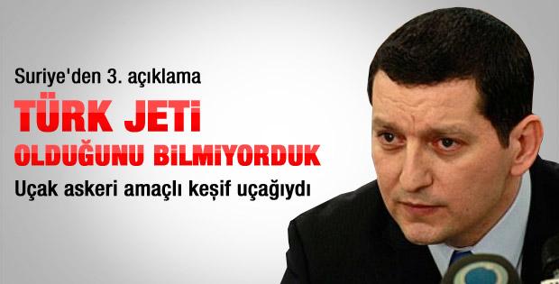 Suriye'den yeni Türk jeti açıklaması
