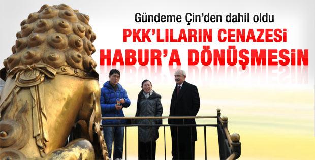 Kılıçdaroğlu: PKK'lıların cenazesi Habur'a dönüşmesin