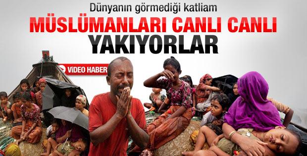 Arakan'da müslümanları canlı canlı yakıyorlar