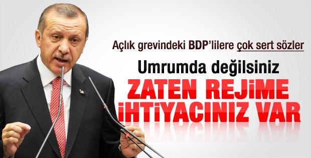 Erdoğan'dan açlık grevi yapan BDP'lilere sert sözler