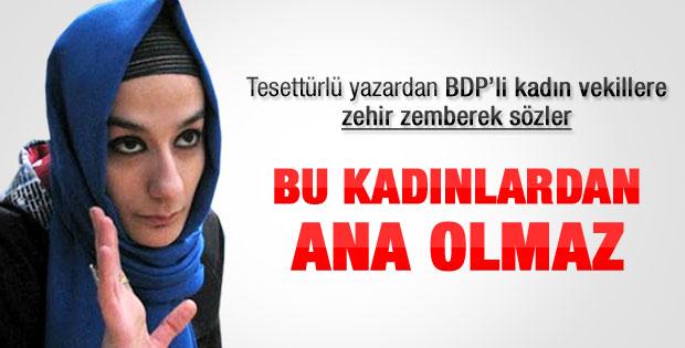 Esra Elönü: BDP'li kadınlardan ana olmaz