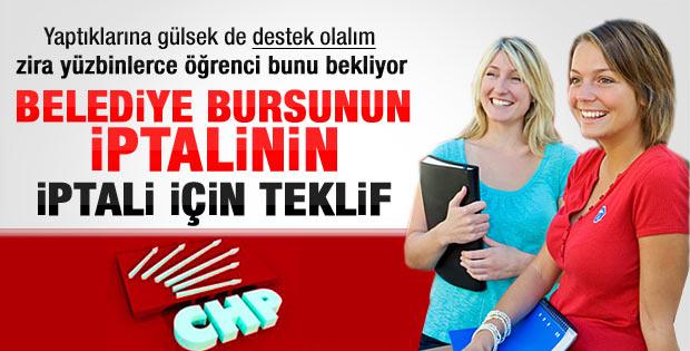 Belediye bursunu iptal ettiren CHP geri gelsin diyor