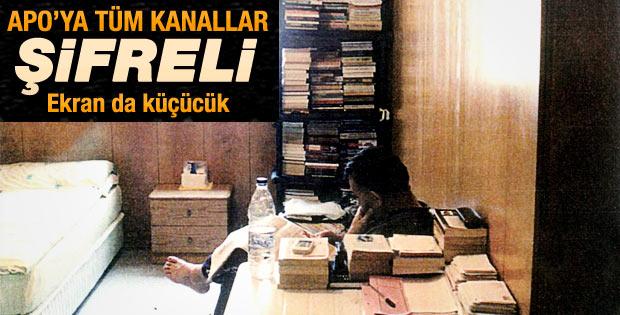 Öcalan'ın küçük ekran televizyonu dün odasına yerleştirildi