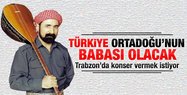 Şivan Perwer Trabzon'da konser vermek istiyor