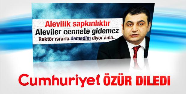 Cumhuriyet Sedat Laçiner'den özür diledi