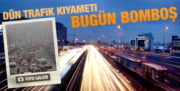İstanbul'da trafik sorunu kalmadı