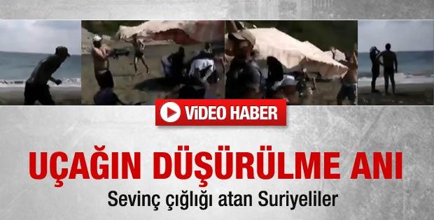 İşte Türk uçağının düşürülme anı - Video