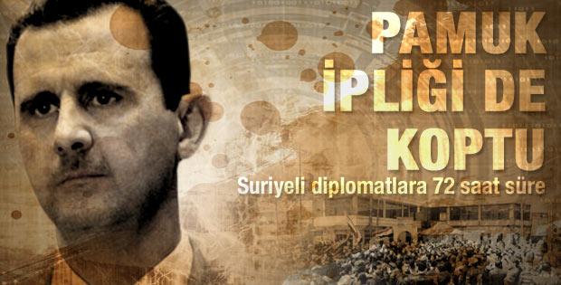 Türkiye de Suriyeli diplomatları sınır dışı etti